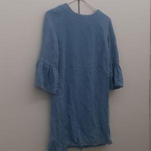 💠Zara Blue  Denim Tunic Dress sz S /M